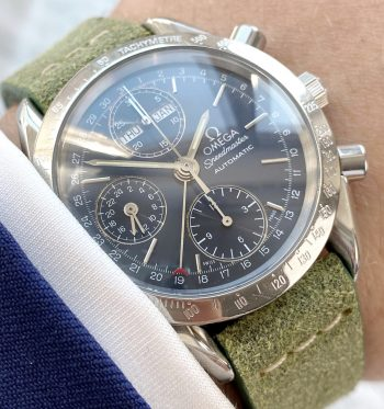 Vintage Omega Speedmaster Triple Date blue dial Full Set