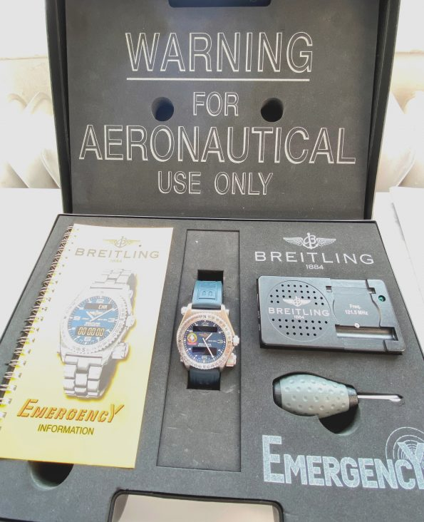 Rare Breitling Emergency Orbiter Limited Edition Super Full Set with Full Service History