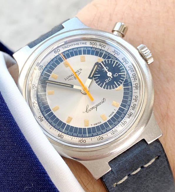 Serviced Longines Olympic Munich 1972 Chronostop Chronograph Sector Dial