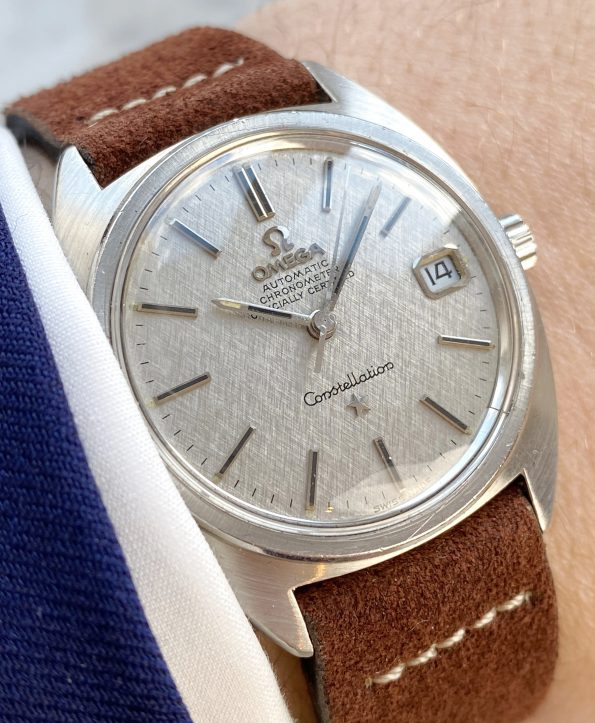 LINEN DIALED Omega Constellation Automatic Vintage Chronometer