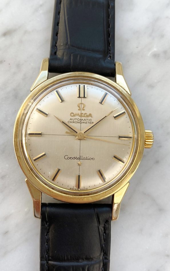 Serviced Omega Constellation Crosshair LINEN Dial Automatic Vintage