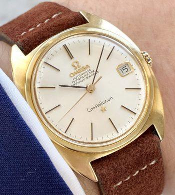 Omega Constellation Automatik Vintage Chronometer Vollgold