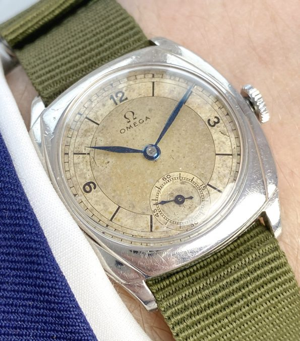 Superrare Vintage Omega Sector Dial Military