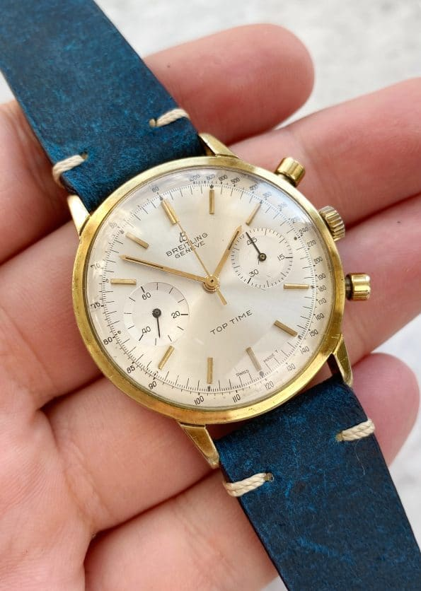 Serviced Breitling Top Time Gold Plated Chronograph