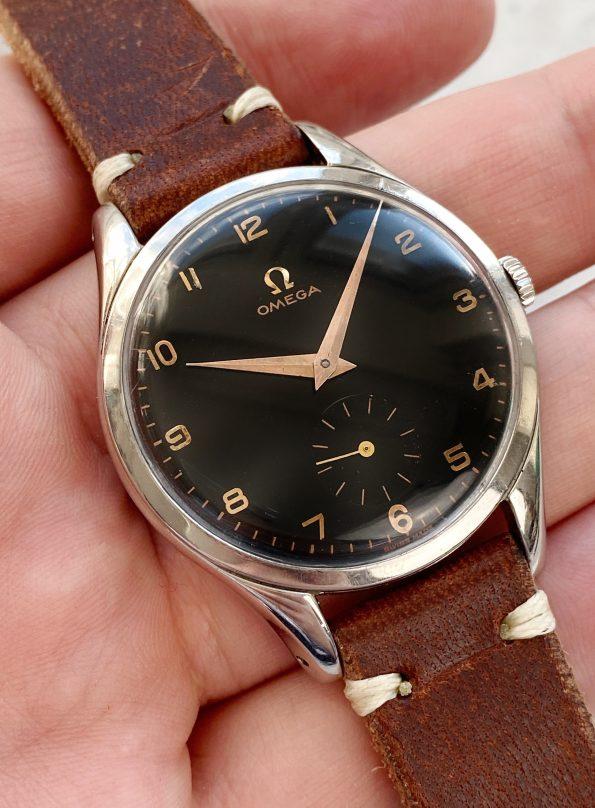 Omega Oversize Jumbo Vintage 30t2 Black restored Dial
