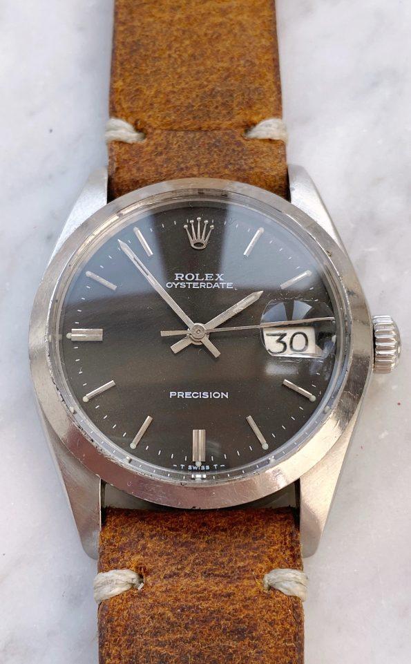 Vintage Rolex Oysterdate Precision Handwinding brown dial