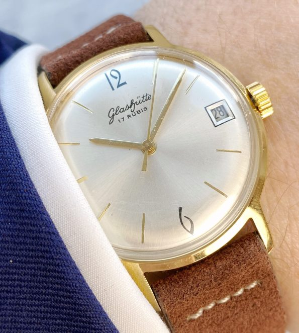 Vintage Glashütte Gub Handwinding Gold Plated