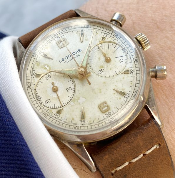 Leonidas Vintage Chronograph Landeron 248 35mm Big Eye