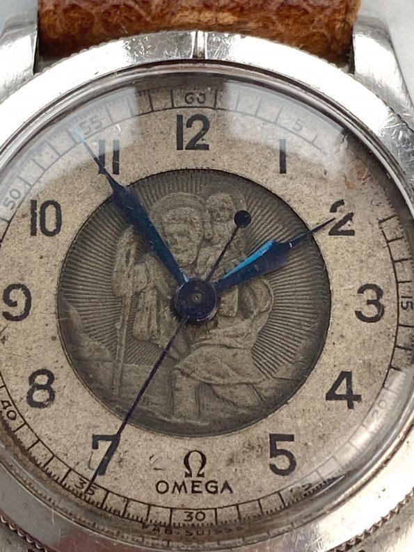 Superrare Omega St. Christopher Steel Travellers Watch Vintage Saint Christophe