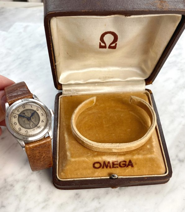 Superrare Omega St. Christopher Steel Travellers Watch