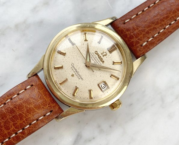 Gold Plated Omega Constellation Calendar Automatic Vintage