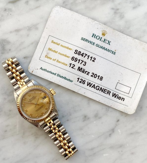 Beautiful Rolex Datejust Steel Gold Lady 26mm 69173