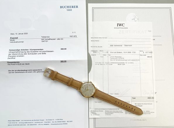IWC Solid GOLD with EXTRACT Serviced by IWC in 2020