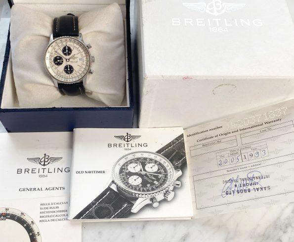 Vintage Breitling Old Navitimer Full Set Ref a13019