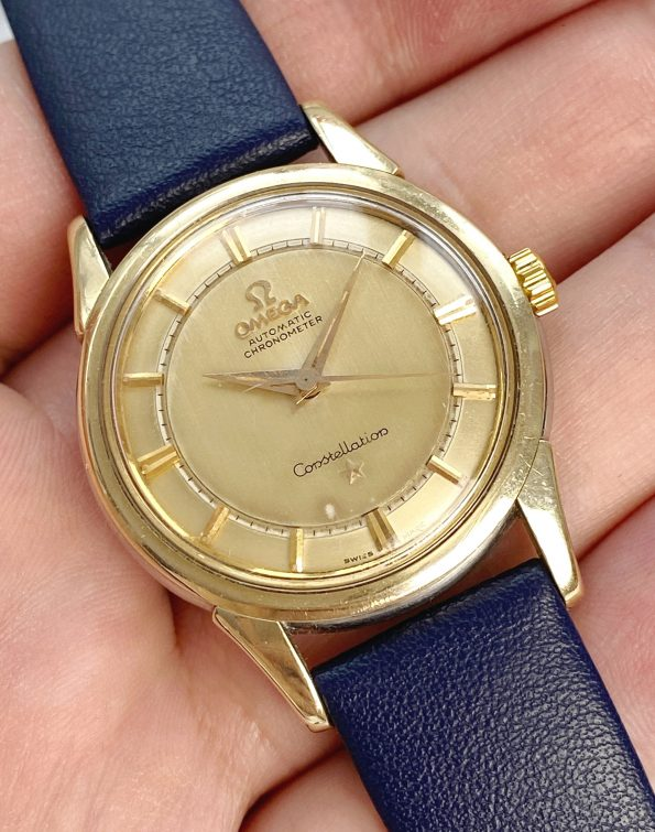 Gold Plated Omega Constellation RARE STEPPED DIAL Automatic Vintage
