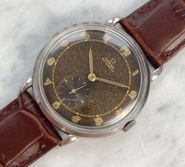 Stunning 35mm Chocolate Dialed Omega Automatic Bumper Vintage