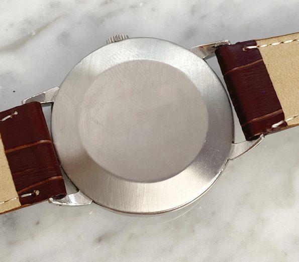 Prachtvolle 35mm Omega Hammerautomatik Bumper schokoladenfarbenes Ziffernblatt