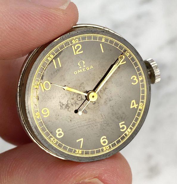 Rare Vintage Omega Black Gilt Dial 31mm