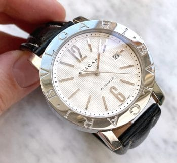 Serviced Bulgari Bvlgari Solotempo white Honeycomb dial Automatic