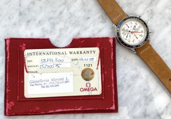 Vintage Omega Speedmaster Automatic Japan Racing Mark 40 35133300 Full Set Box Papers