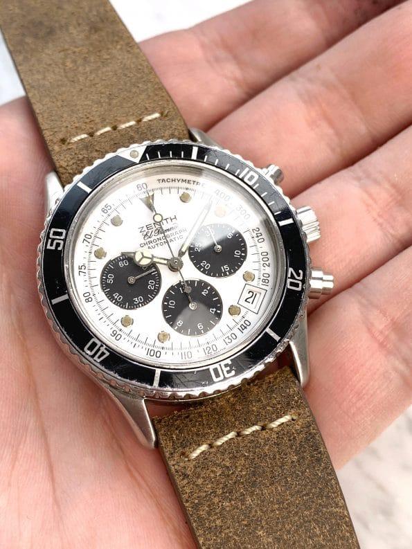 "Vintage Zenith el Primero de Luca ""Zenith Daytona"" Chronograph MK3 Panda Dial 020310400"