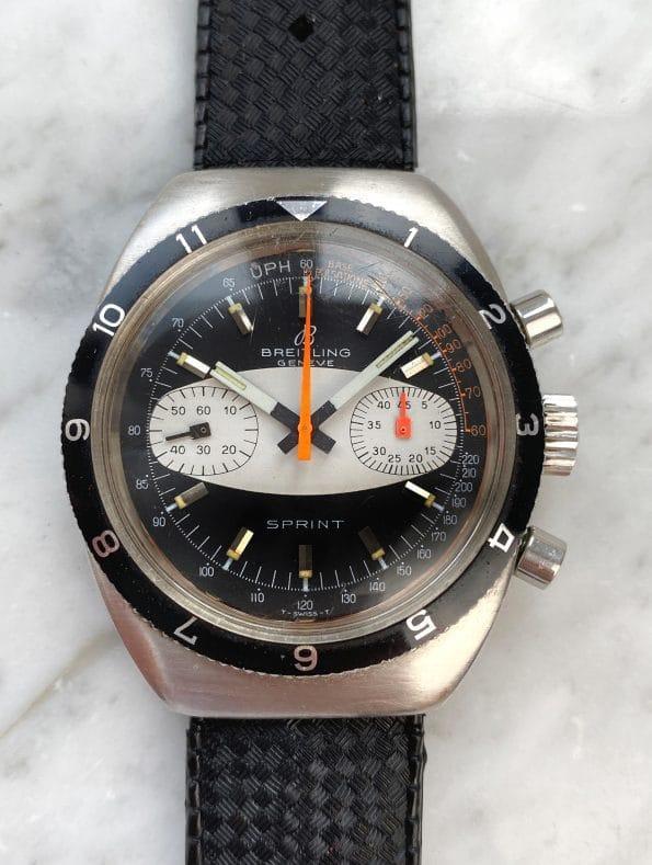 Breitling Sprint Reverse Panda Dial Vintage 2112 2212 Chronograph