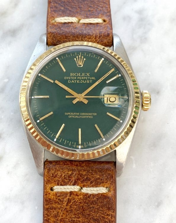 Serviced Rolex Datejust Automatic green customised dial Vintage Hulk 16013