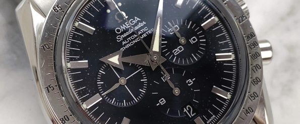 Omega Speedmaster Broad Arrow Moonwatch Chronograph 35515000 Full Set Automatic