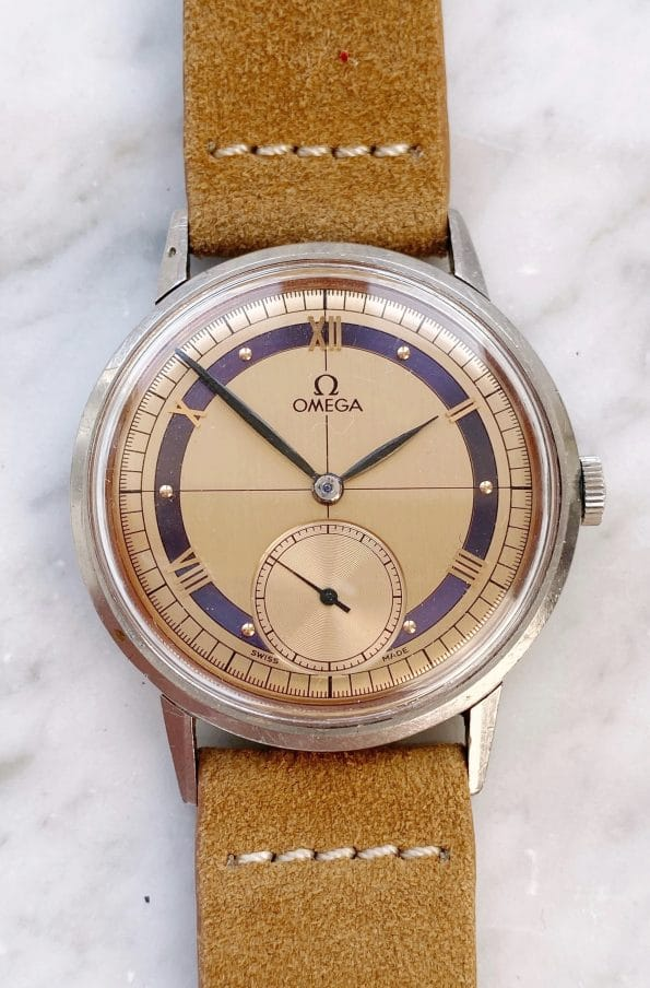 Wonderful Omega Oversize Jumbo 30T2 Ref 2272 with salmon two tone dial