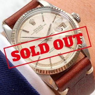 [:en]Vintage Rolex Datejust 1601 Stepped Sigma Linen Dial[:de]Vintage Rolex Datejust 1601 Stepped Sigma Leinenziffernblatt[:]