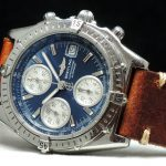 Breitling Chronomat blue dial box papers full set Automatic