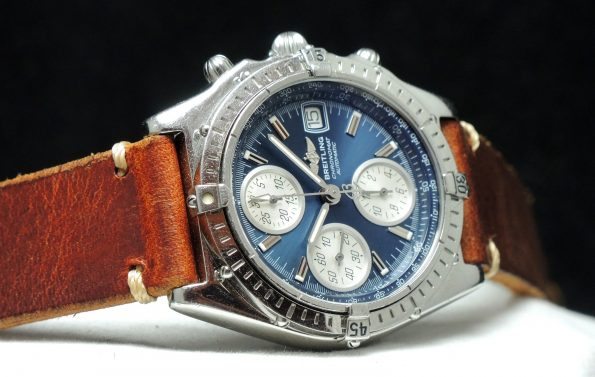 Breitling Chronomat blue dial box papers full set
