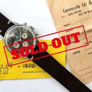 Serviced Vintage Breitling Old Navitimer 806 with Original Papers
