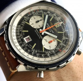 Serviced Breitling Navitimer Iraqui Air Force  1806 Irak Vintage Automatik