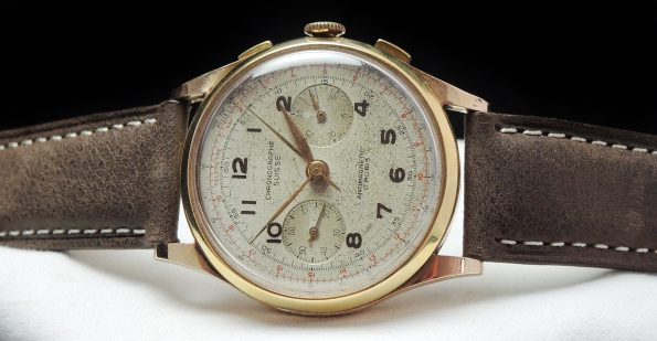 Chronograph Suisse Chrono in 18 carat solid pink gold 38mm