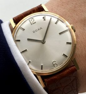 Doxa Handwinding Watch in 14 carat Solid Gold Case