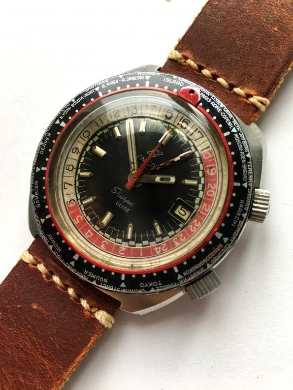 Original Enicar Sherpa Guide GMT Compressor 600