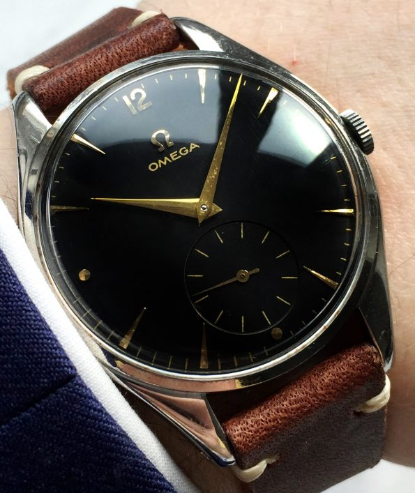 Vintage Omega Oversize Jumbo Fully restored black dial 38mm