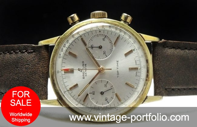 Gold Plated Genuine Breitling Top Time Chronograph