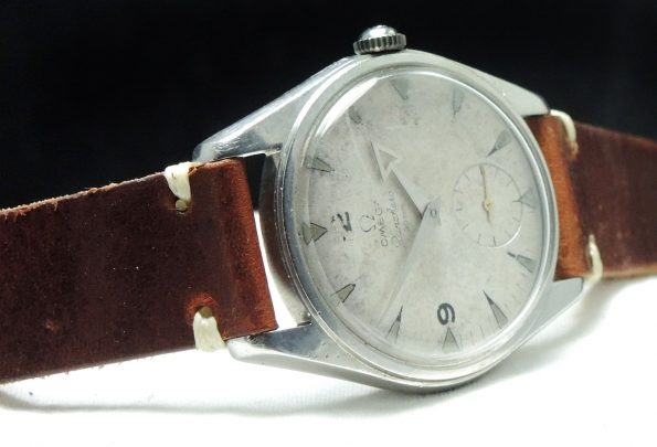Vintage Omega Ranchero with white-patina dial