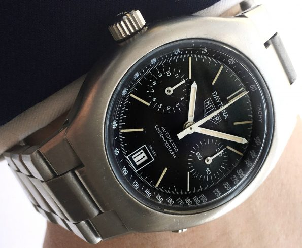 Genuine Heuer Daytona Chronograph with Steel Strap