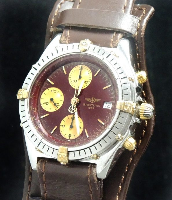 Original Breitling Vintage Chronomat with burgundy dial