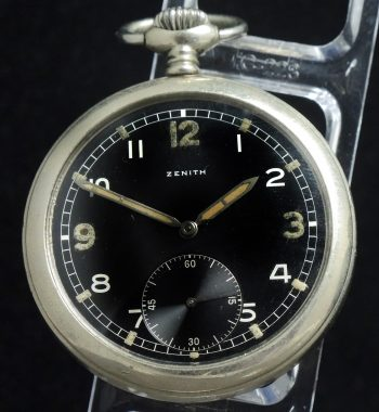 Rare Zenith Military Pocket Watch of the German Army wk2 ww2