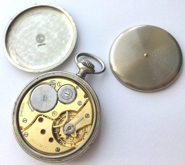 Rare Zenith Military Pocket Watch of the German Army wk2 ww2