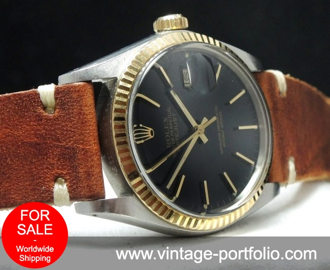 Full Set - Rolex Datejust 16013 with black dial