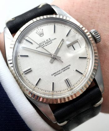 Top Rolex Datejust Automatik Automatic  with rare linen dial