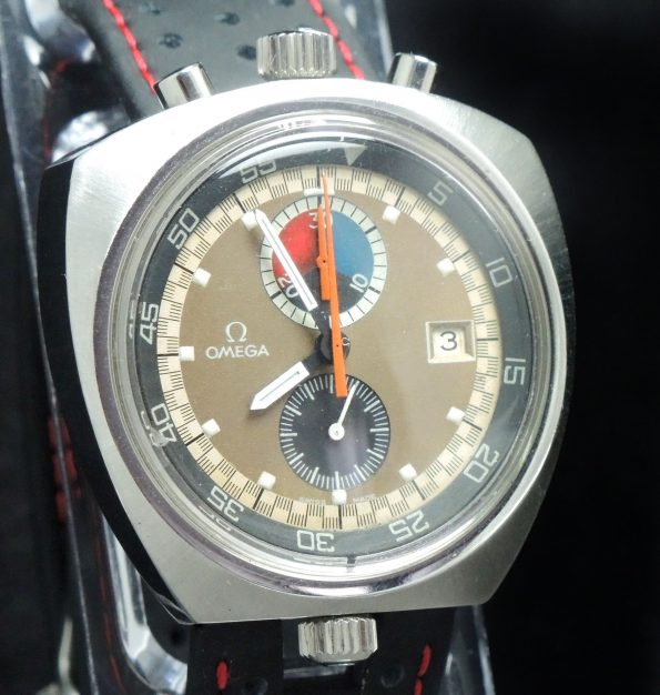 Original Omega Bullhead Chronograph Vintage Automatic