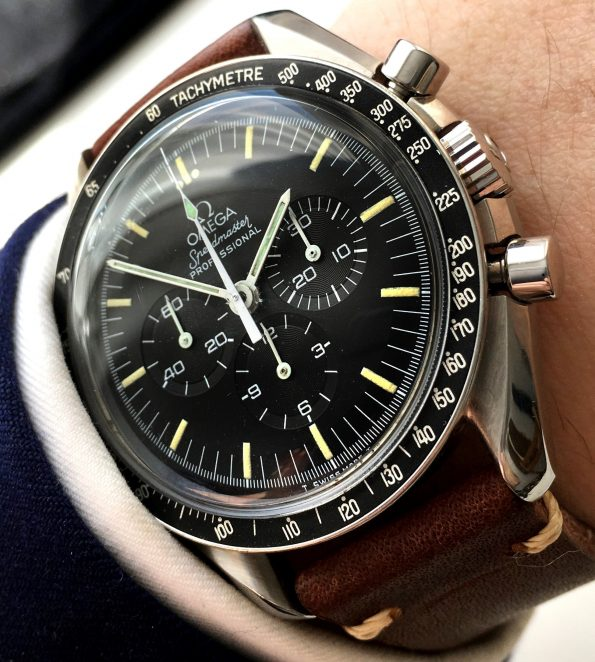 Serviced Omega Speedmaster Moonwatch Tritium 145022
