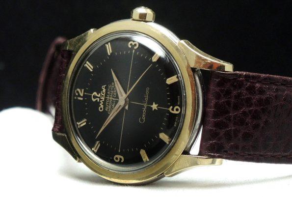 Vintage Omega Constellation Pie Pan Chronometer Automatic Automatik black dial