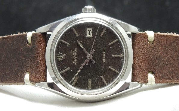 Vintage Rolex Precision Date 6694 Unrefurbished Chocolate Dial